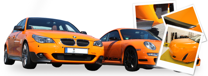 BMW 535i orange/carbon